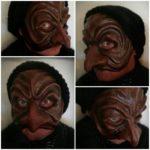 Mask, papier mache, Charlotte Wiktorsdotter