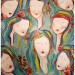 Metoo, oljemålning, Charlotte Wiktorsdotter