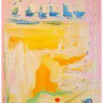Rosa, oljemålning, Charlotte Wiktorsdotter
