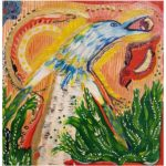 Birds, oljemålning, Charlotte Wiktorsdotter