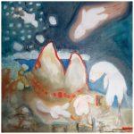 Flyga, oljemålning, Charlotte Wiktorsdotter
