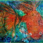 Guldfisken, oljemålning, Charlotte Wiktorsdotter
