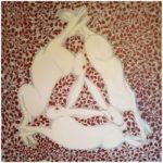 Tre harar, oljemålning, Charlotte Wiktorsdotter